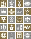Prizes and awards icons Stock Photos