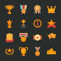 Prizes awards icons flat design eps vector format Royalty Free Stock Photos