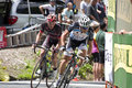 Pro cyclists lead pack at stillwater minnesota june atop chilkoot hill in criterium it is stage six of the prestigious Stock Photo