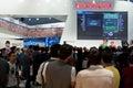 Pro Evolution Soccer bei GamesCom Stockfotografie