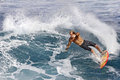 Pro Surfer Flynn Novak surfing in Hawaii Stock Image