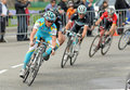 Pro Team Astana's cyclist Russian Evgeni Petrov Stock Images