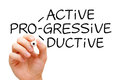 Proactive Progressive Productive Royalty Free Stock Photo
