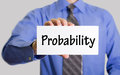 Probability Royalty Free Stock Photo