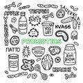 Probiotics bacteria food medicine set gut bacterial flora