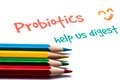 Probiotics help us digest Royalty Free Stock Photo
