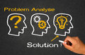 Problem analyse solution idea concept Royalty Free Stock Photography