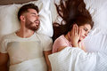 Problem with snoring Royalty Free Stock Photo