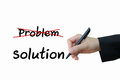 Problem and solution for business concept marketing Royalty Free Stock Image