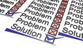 Problems and solutions Stock Image