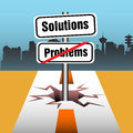 Problems and solutions abstract colorful background with a plate with the text are over ahead concept Stock Images
