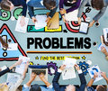 Problems trouble difficulty failure challenge concept Stock Photography