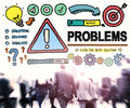 Problems trouble difficulty failure challenge concept Royalty Free Stock Photo