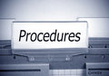 Procedures folder in the office Royalty Free Stock Photo