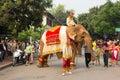 Procesión del elefante para lao new year en luang prabang laos Fotografía de archivo libre de regalías