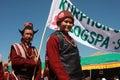 Procesion culturel pendant le festival de Ladakh Photo stock