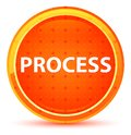 Process Natural Orange Round Button Royalty Free Stock Photo