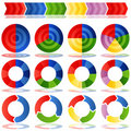 Process Target Pie Charts Royalty Free Stock Photos