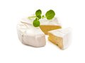 Processed cheese isolated on white background Stock Photos