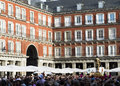 Procession of san isidro in the area of old madrid spain may people honor s plaza mayor Stock Images