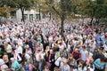Processione preoccupantesi dell'icona Fotografia Stock Libera da Diritti