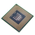 Processor on a white background copper cpu pins closeup image pin Royalty Free Stock Image