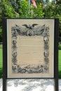 Proclamation Emancipation exhibit at the Freedom Park, Helena Arkansas.
