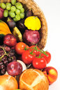 Produce basket detail Royalty Free Stock Photography