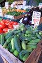 Produce market stand Royalty Free Stock Photo