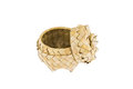 Product of bamboo strips, basket with lid Royalty Free Stock Photo