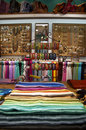 Product display at colorful ethnic shop Royalty Free Stock Image