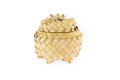 Product of rattan, basket with lid Royalty Free Stock Photo
