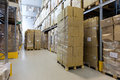 Product ready to send products in carton boxes Royalty Free Stock Images