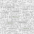 Product seamless pattern word cloud illustration Royalty Free Stock Photos