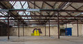 Production hall with graffiti picture from the former tupperware factory in aalst belgium europe this factory will be destroyed Royalty Free Stock Photo