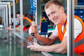 Production line workers Royalty Free Stock Photo