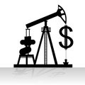 Production and sale of oil contour abstract image the pump a dollar sign the illustration on a white background Stock Photo