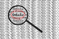 Productive concept magnifying glass look for hand writing Stock Photos