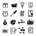 Productivity icons collection of and time management Stock Photography
