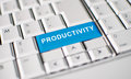 Productivity key on laptop keyboard computer with word Royalty Free Stock Images