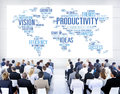 Productivity mission strategy business world vision concept Royalty Free Stock Images