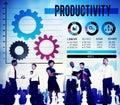 Productivity production efficiency capacity concept Stock Image