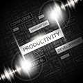 Productivity word cloud concept illustration wordcloud collage Royalty Free Stock Photo