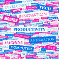 Productivity word cloud illustration tag cloud concept collage Royalty Free Stock Photography