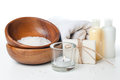 Products for spa, body care and hygiene Stock Images