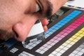 Produktion för färgmenagementtryck Royaltyfri Foto