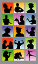 Profession avatar silhouettes good use for symbol sticker design icon or any design you want easy to use or edit Stock Images