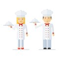 Profession chef cooking man woman Royalty Free Stock Photo