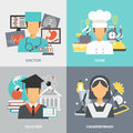 Profession Flat Set Royalty Free Stock Photo