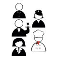 Profession icons on white background Stock Photography
